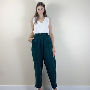 Vintage 90s high waisted pleated trouser pants.